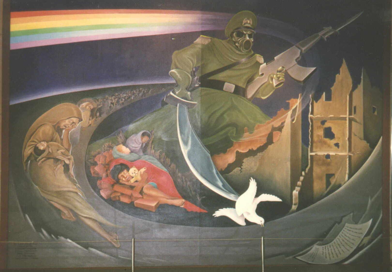Denver Airport Wall Murals Denver International Airport Freimaurer Symbolik Seite