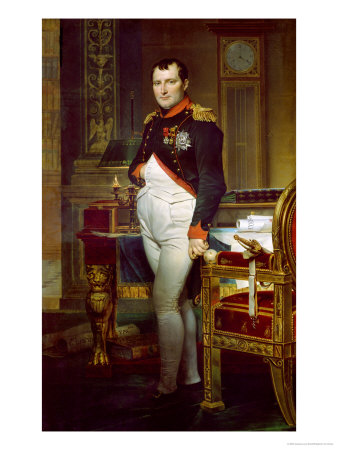 gg44854,1213918286,155465~Napoleon-Bonaparte-1769-1821-in-His-Study-at-the-Tuileries-1812-Posters