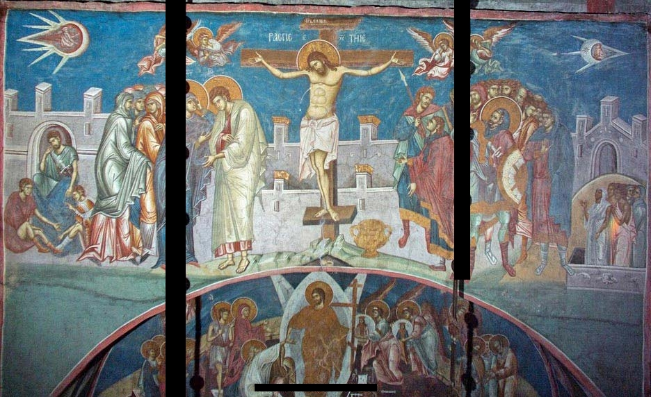 Crucifixion of Christ - Visoki DeC48Dani Monastery