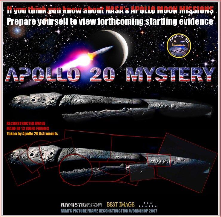 Riesiges alien-raumschiff auf dem mond entdeckt?