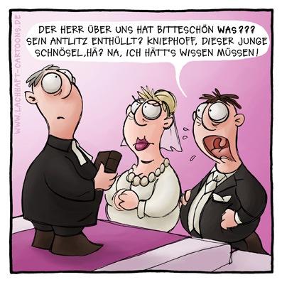 Cartoon hochzeit
