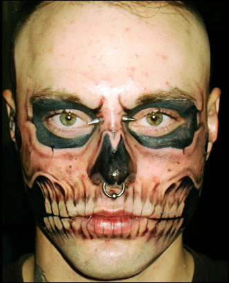 Tattoos on Tattoo3skull Face Tattoo Lg
