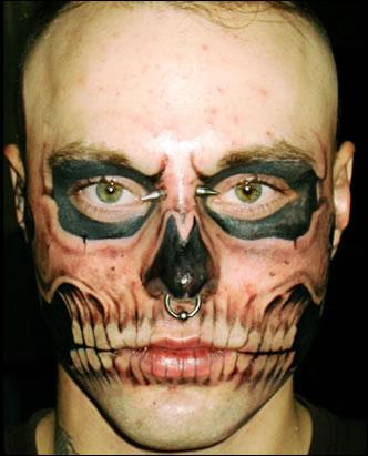Tattoos on Tattoo3skull Face Tattoo Lg