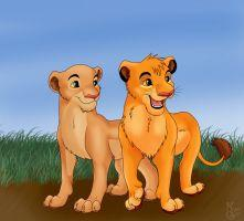 simba and nala cubs by eshlin lynx-d3aqv