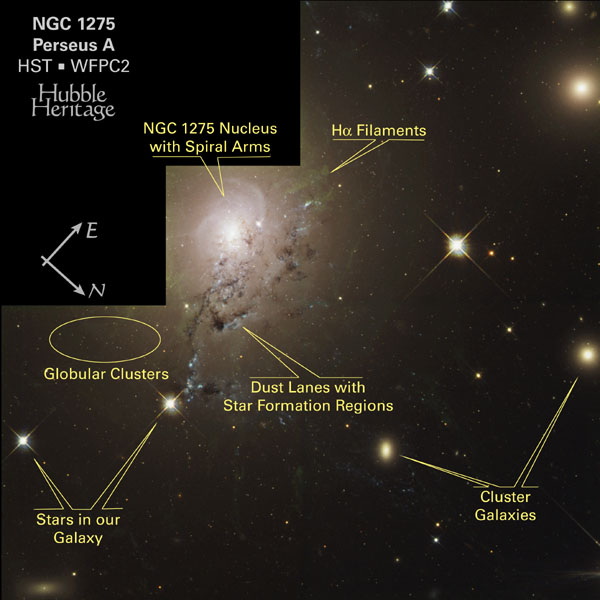 NGC 1275HSTIllustrated