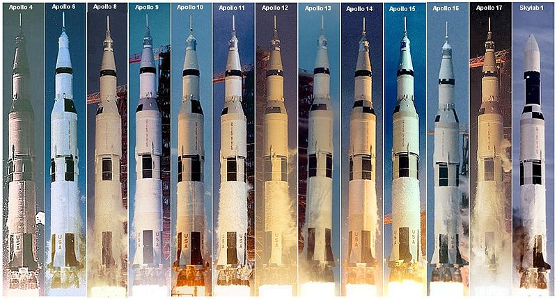 800px-Saturn V launches
