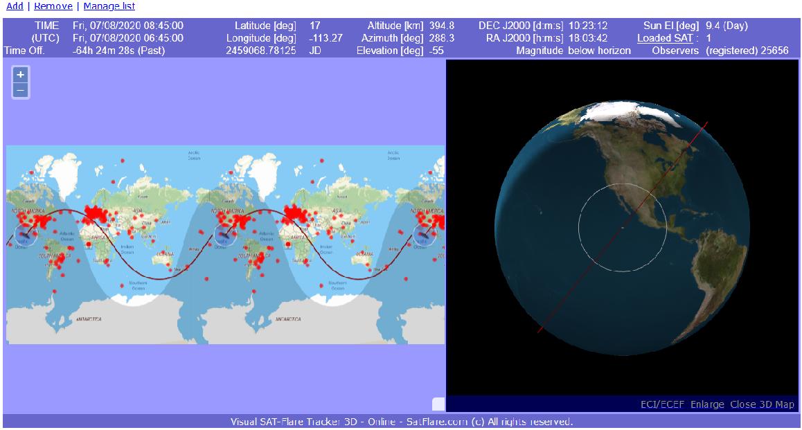 Starlink-Satelliten Beobachten