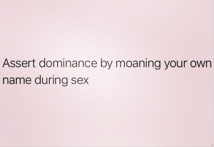 dominance during sex