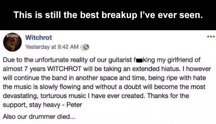 breakup guitarist