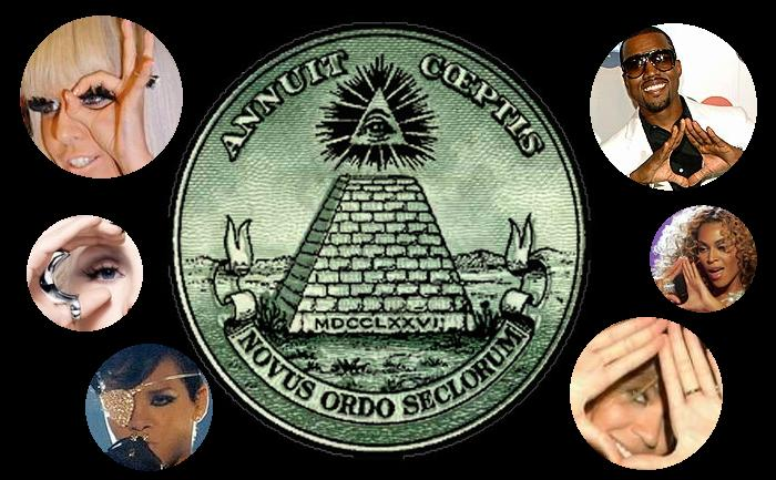 Illuminati pyramid eye showbiz gjesp