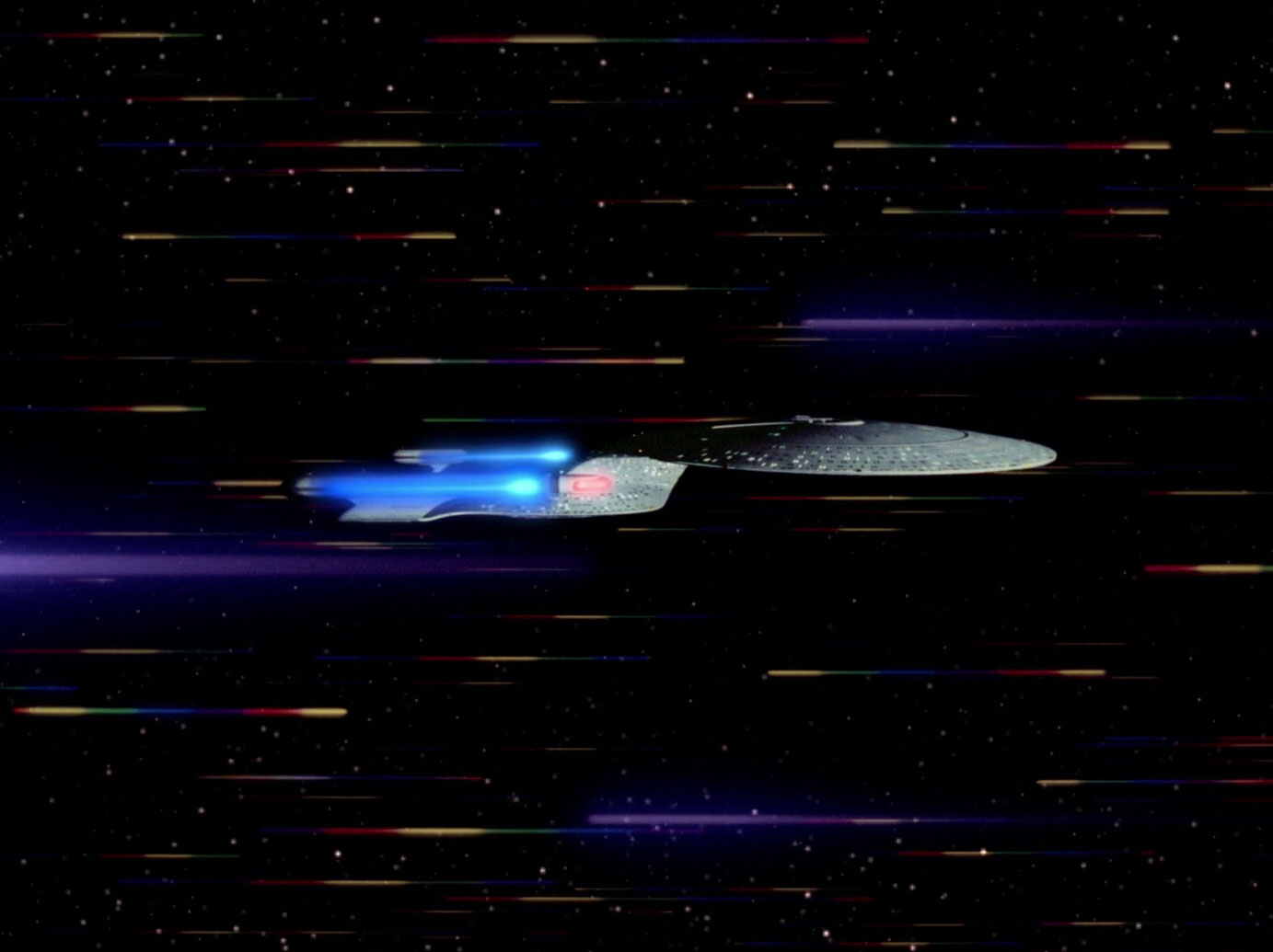 USS Enterprise going to warp in full pro