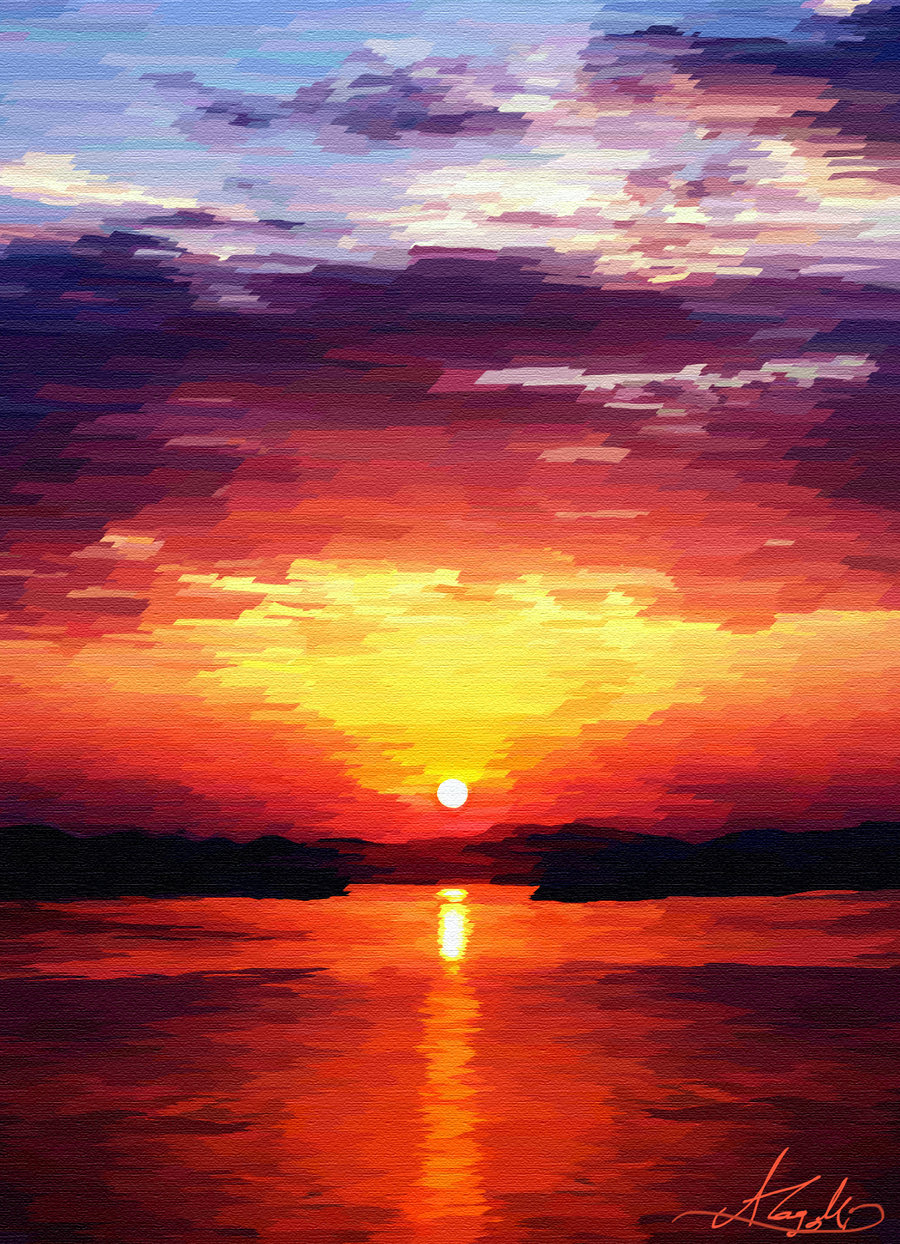 Sunrise Painting by PineapplesQueen