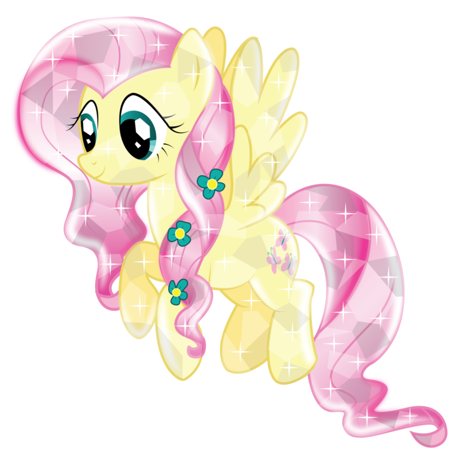 fluttershy crystal  version 2  by infini
