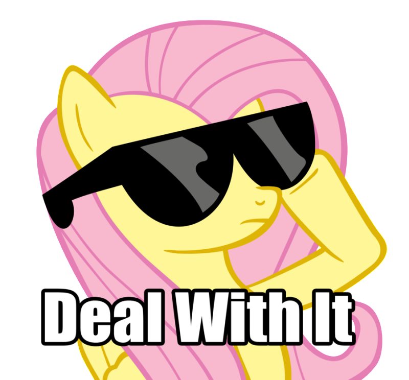 deal with it flutter style by