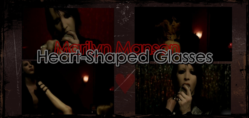 marilyn manson   heart shaped glasses by