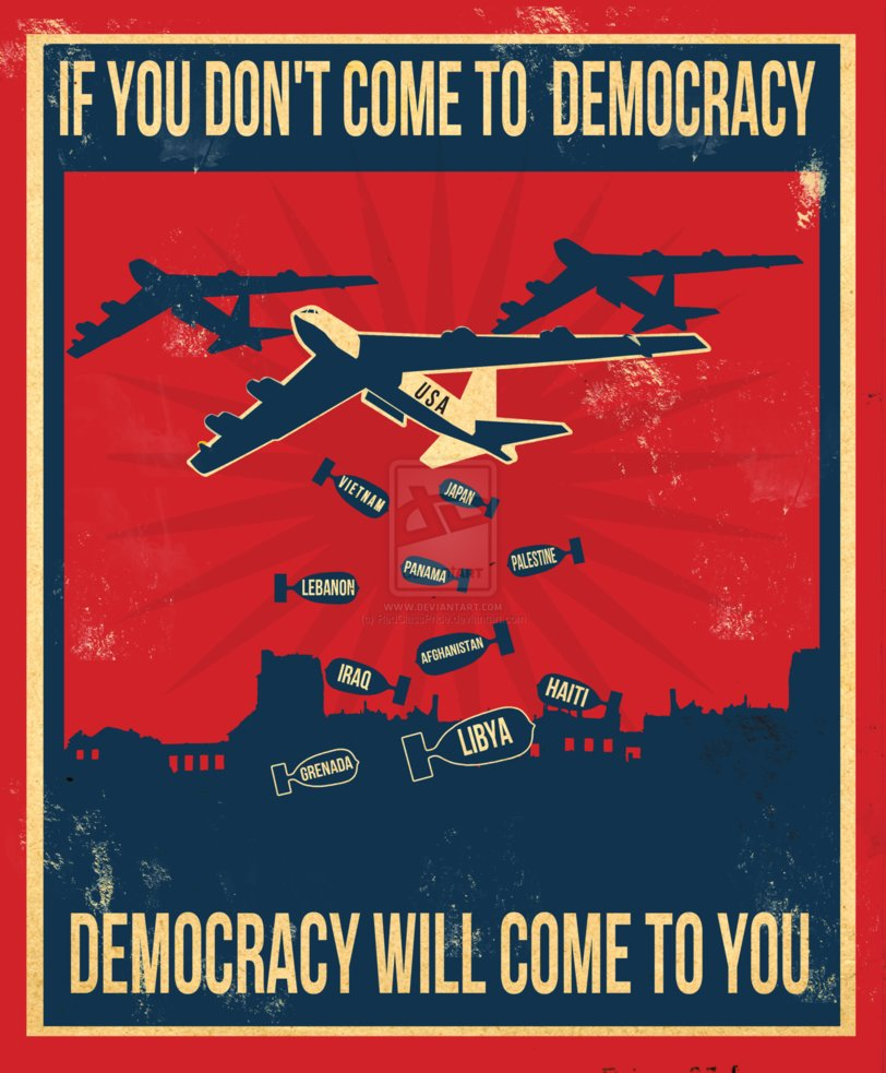 poster  if you don  t come to democracy