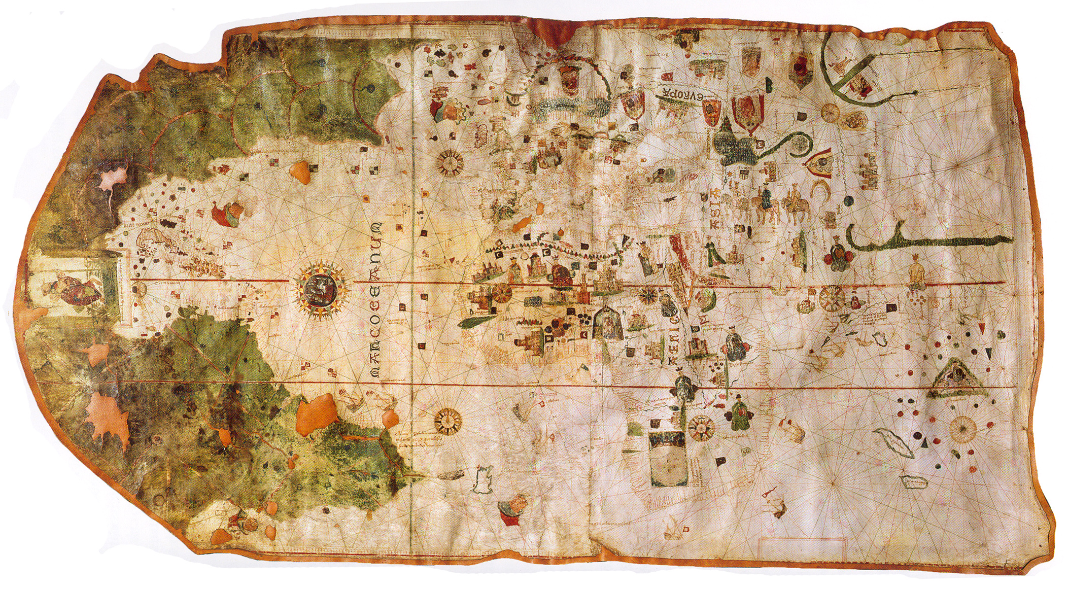 1500 map by Juan de la Cosa-North up