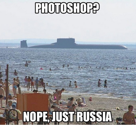 meanwhile in russia submarine or photosh