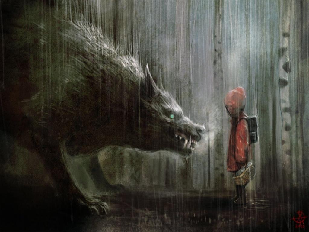 Diario dos Sonhos Lúcidos de Deloam T12108d_3398-rain-little-red-riding-hood-artwork