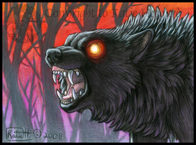 Night Wolf ACEO by shadow wolf