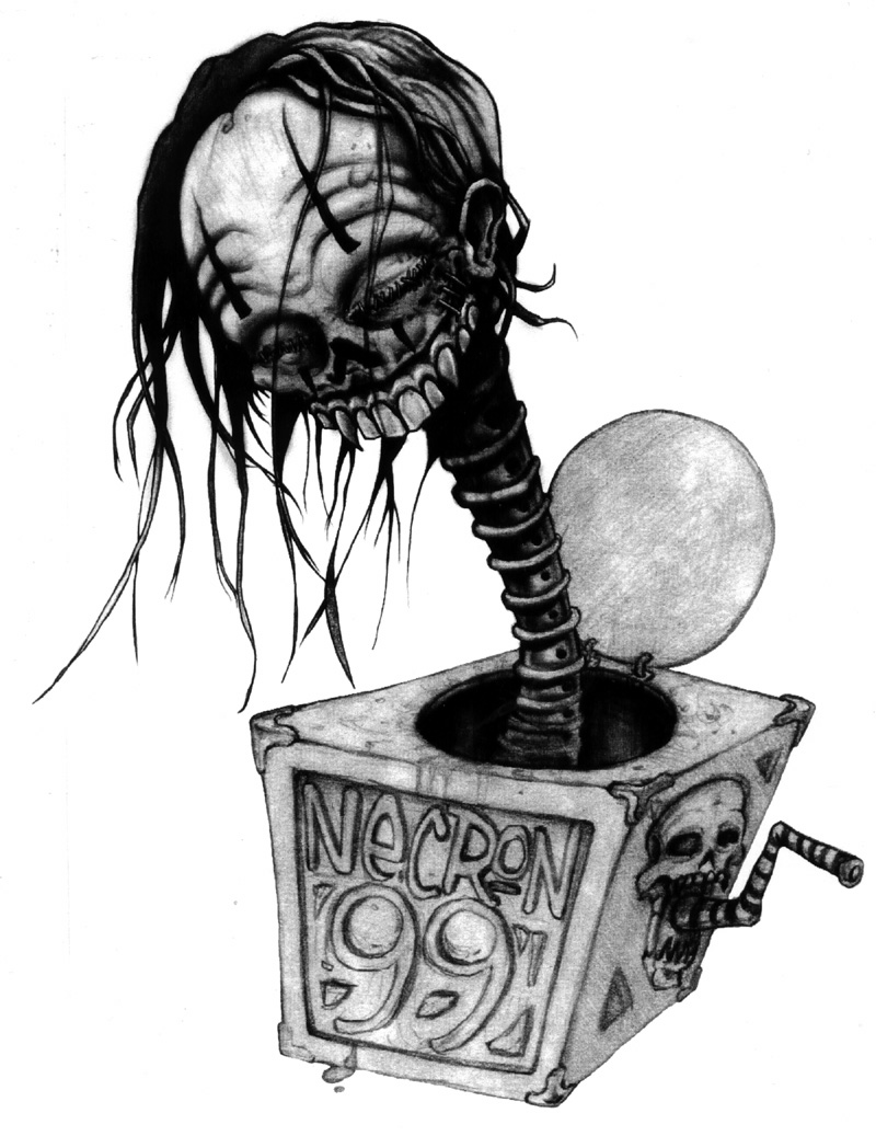 evil jack in a box drawing by mr biggs