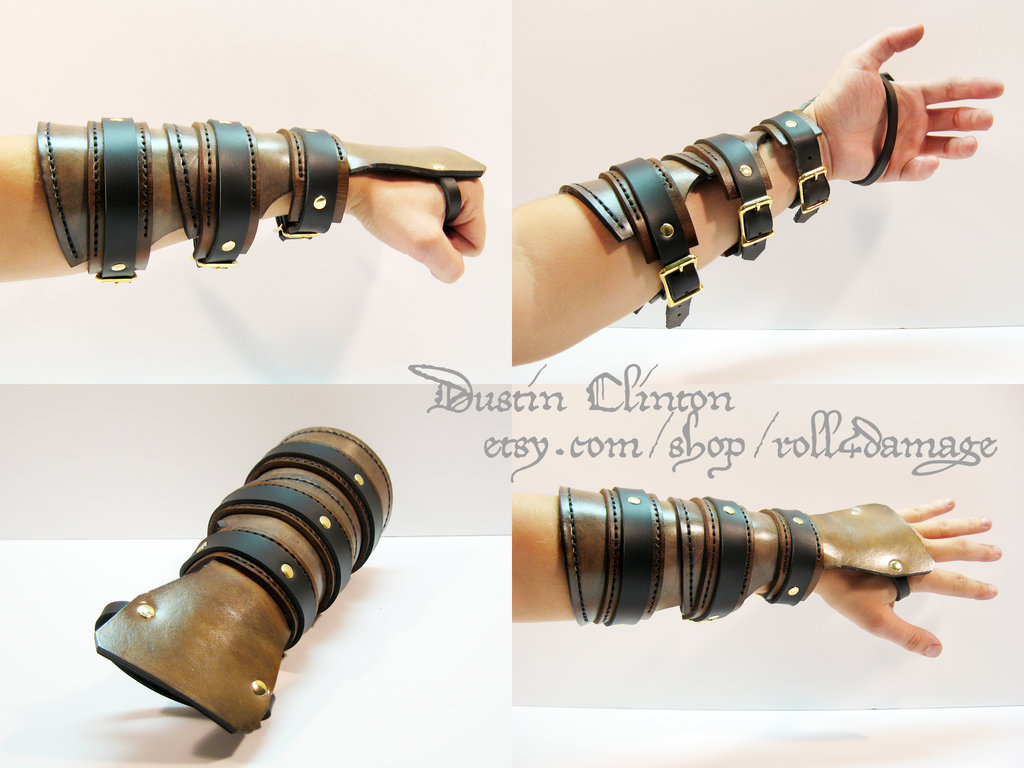 leather steampunk bracer by swanboy-d6v2