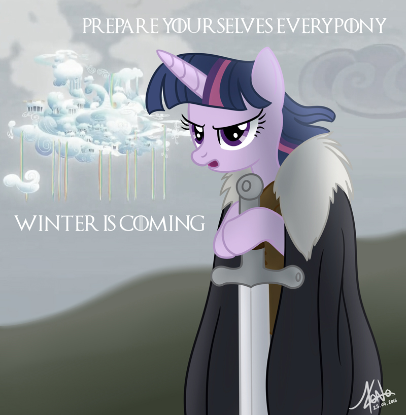 cloudsdale winter is coming by valinhya-