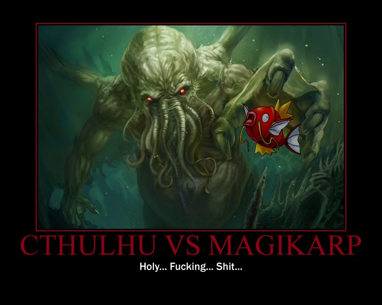 cthulhu vs magikarp updated by mothmanbo