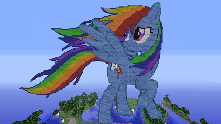 Pixel Art Minecraft My Little Pony Rainbow Dash Download