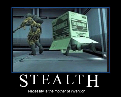 Metal Gear Solid Snake Box Stealth