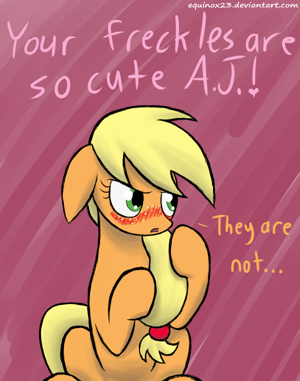 applejack  s so cute when she blushes by