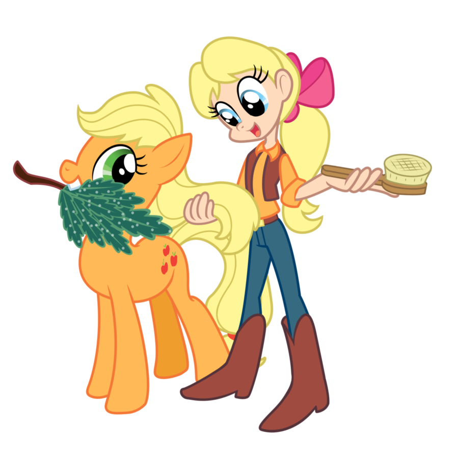 my little pony   applejack and megan by