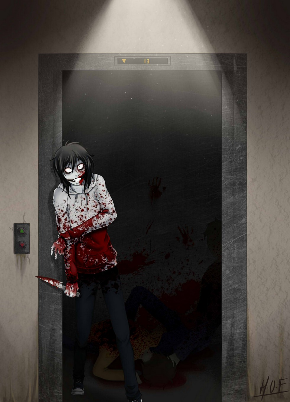 jeff the killer   elevator by house 0f f
