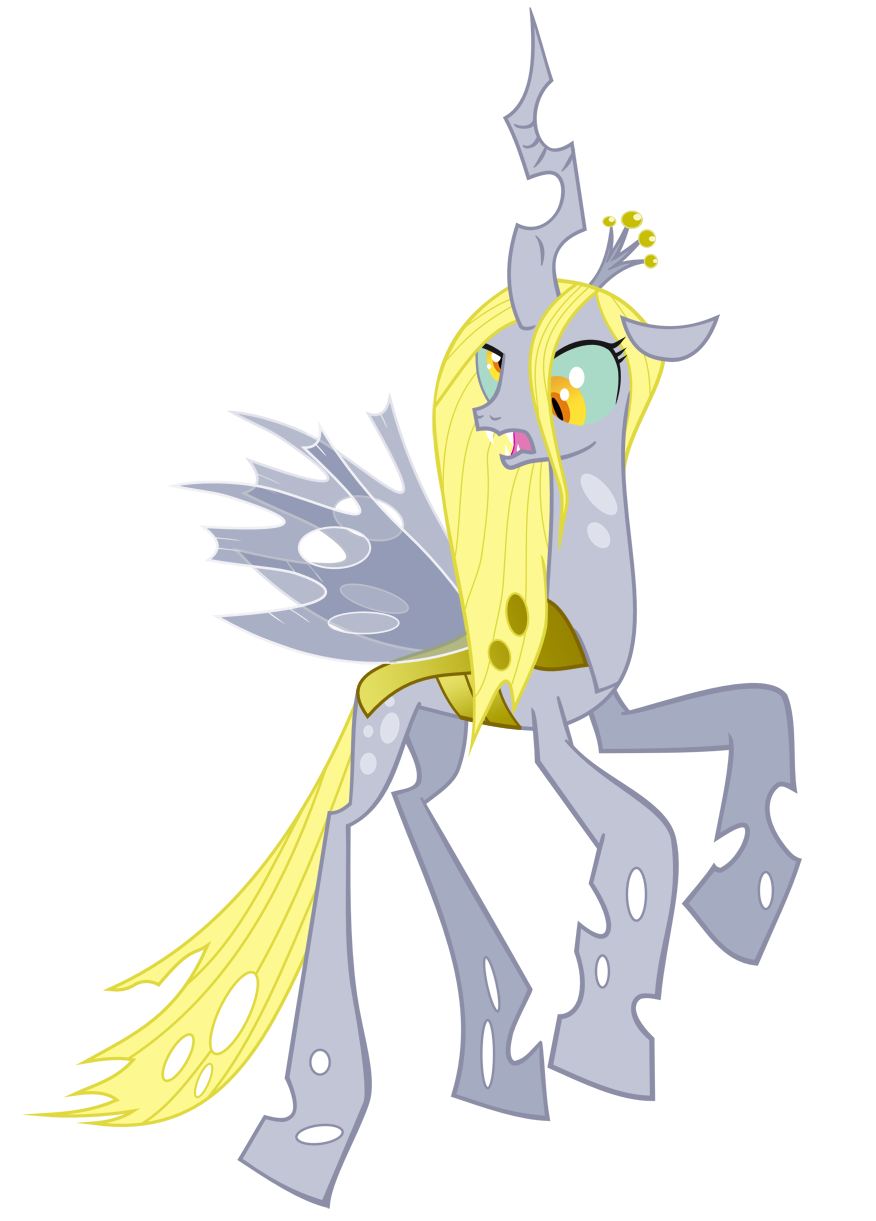 Queen Chrysalis recolor with Derpy by ar