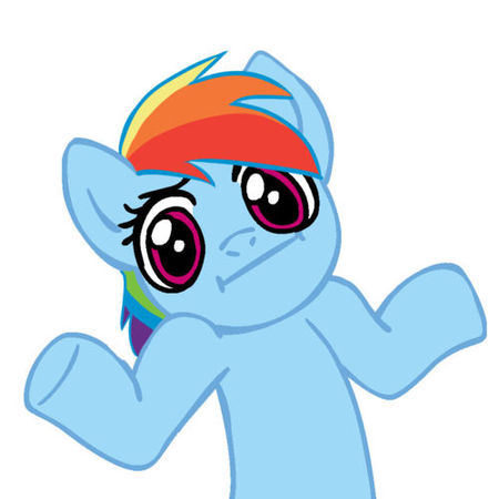 FANMADE Rainbow Dash shrug