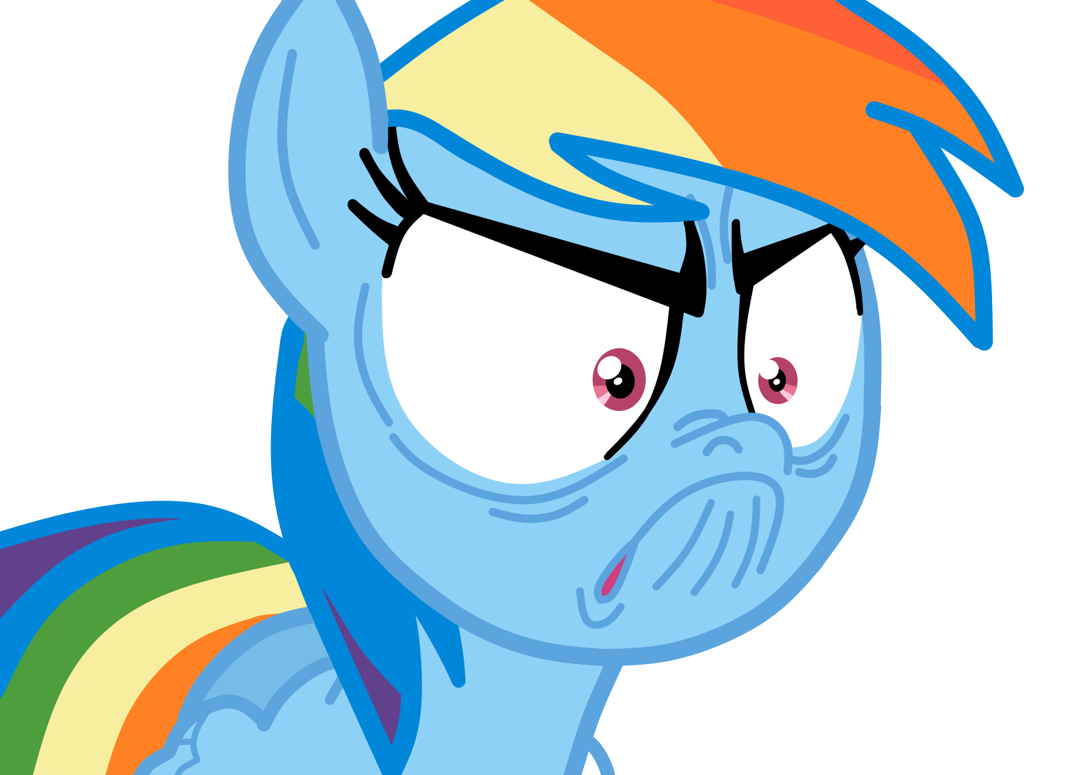 rainbow dash   i m not angry  vector by