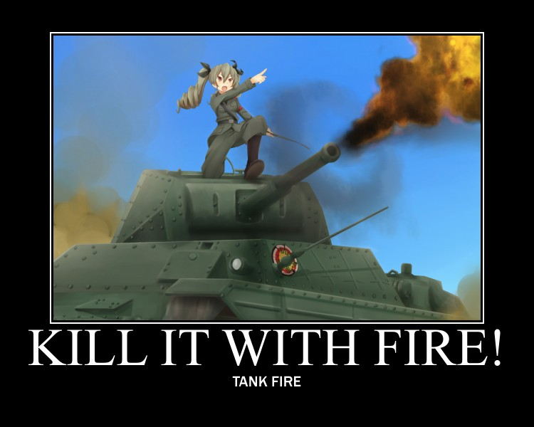 girls und panzer  fire by history nerd-d