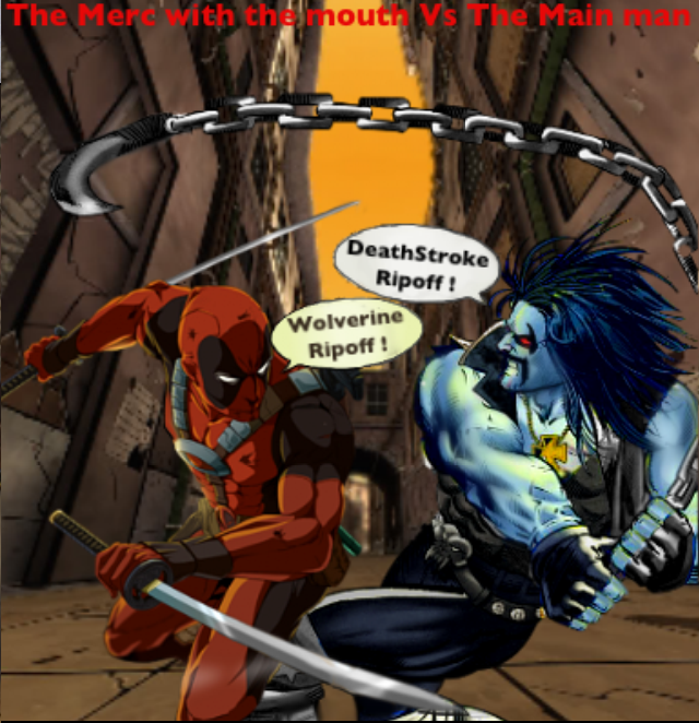 deadpool vs lobo  marvel vs dc  merc vs