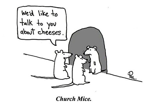 Church-mice-talk-about-cheeses