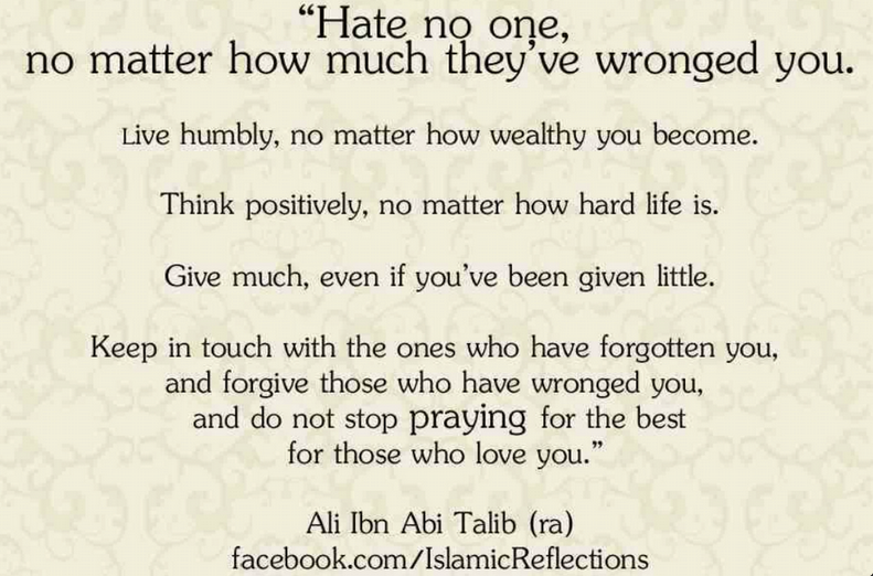 hate no one