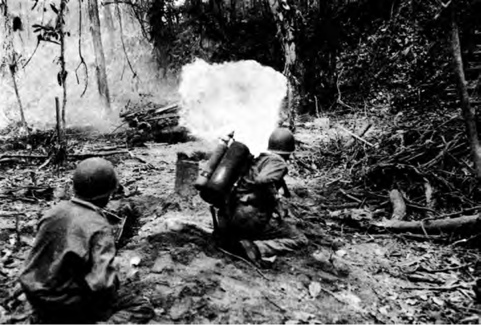 M1A1 flamethrower fired at bunker
