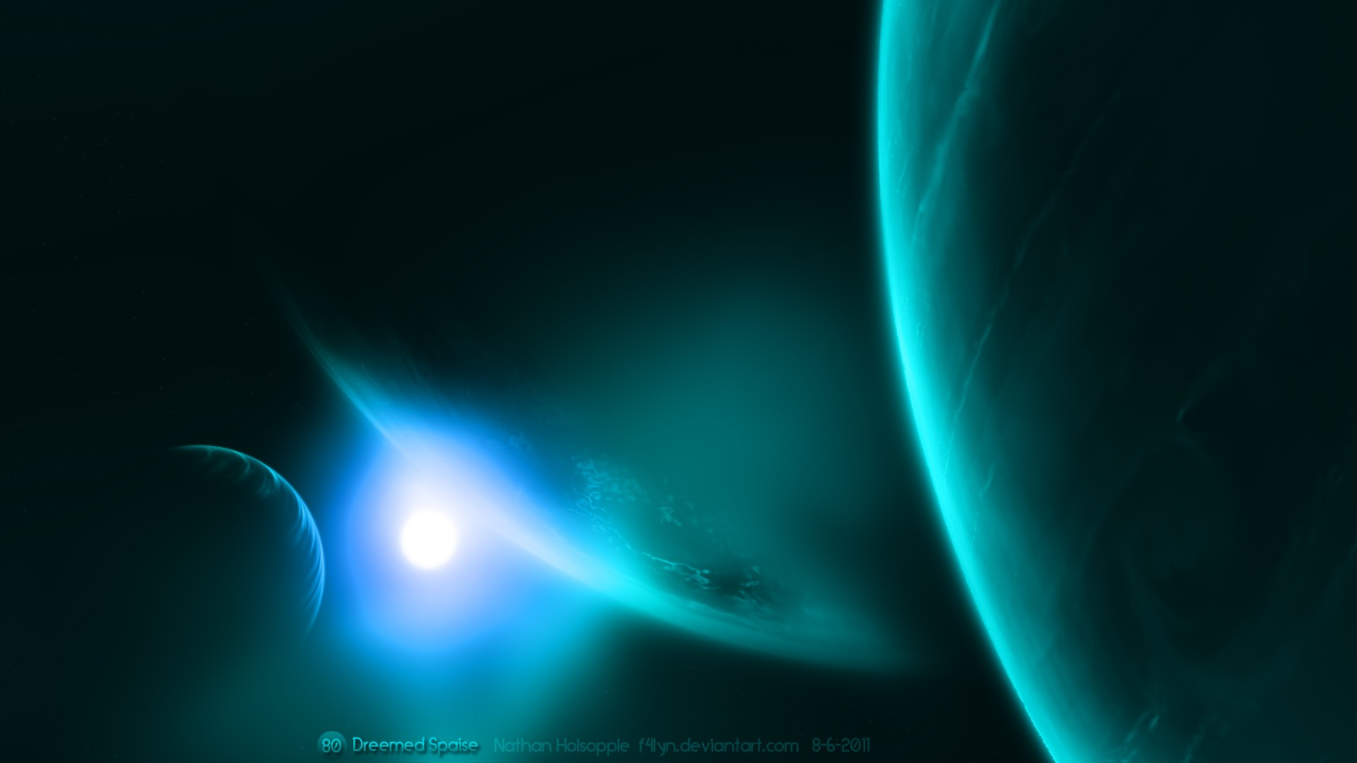 -Tv-Blue-Outer-Space-Artwork-Space-Scene
