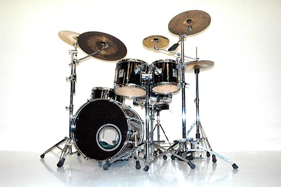 realistische drums drum kit