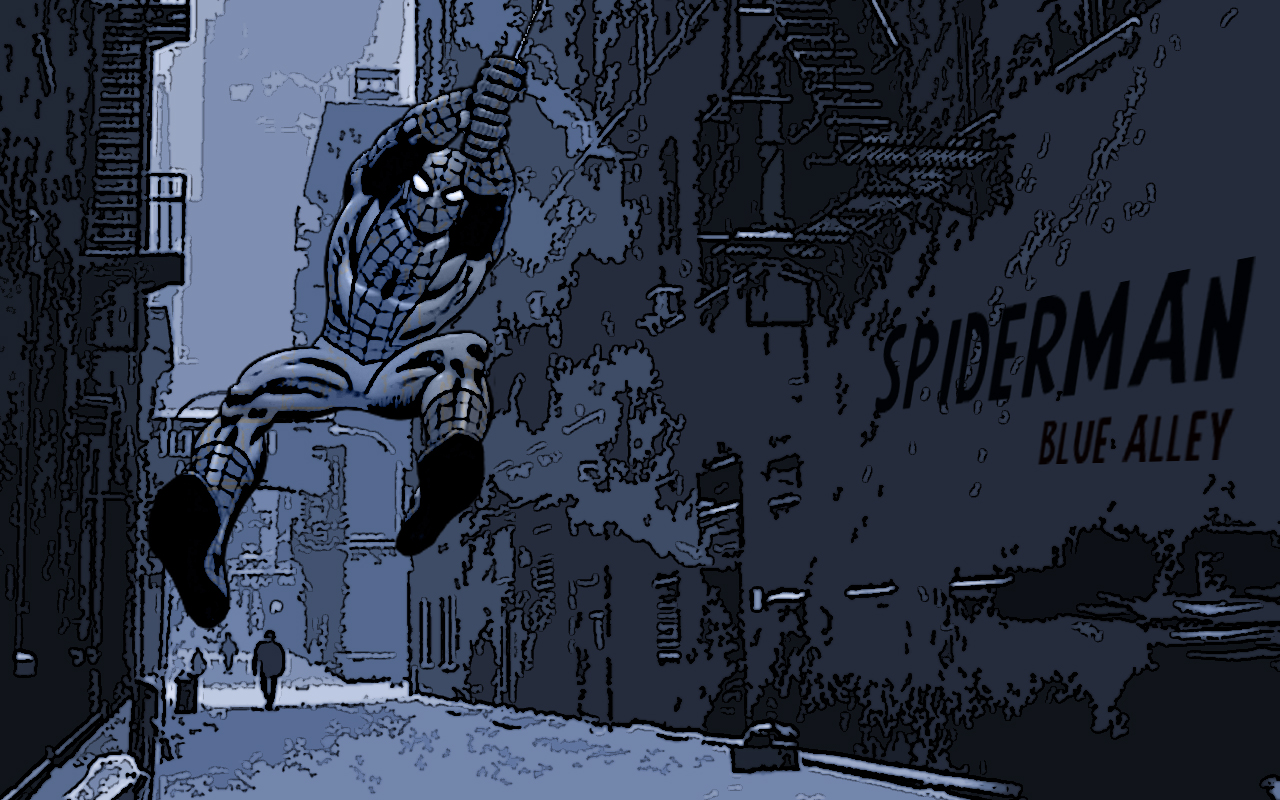 Spiderman Blue Alley by Ash4fire