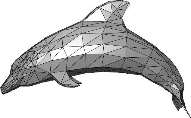 Dolphin triangle mesh