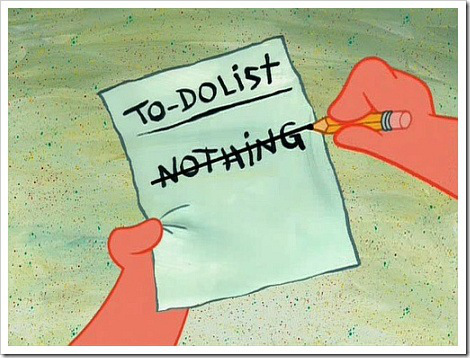 funny to do list nothing3