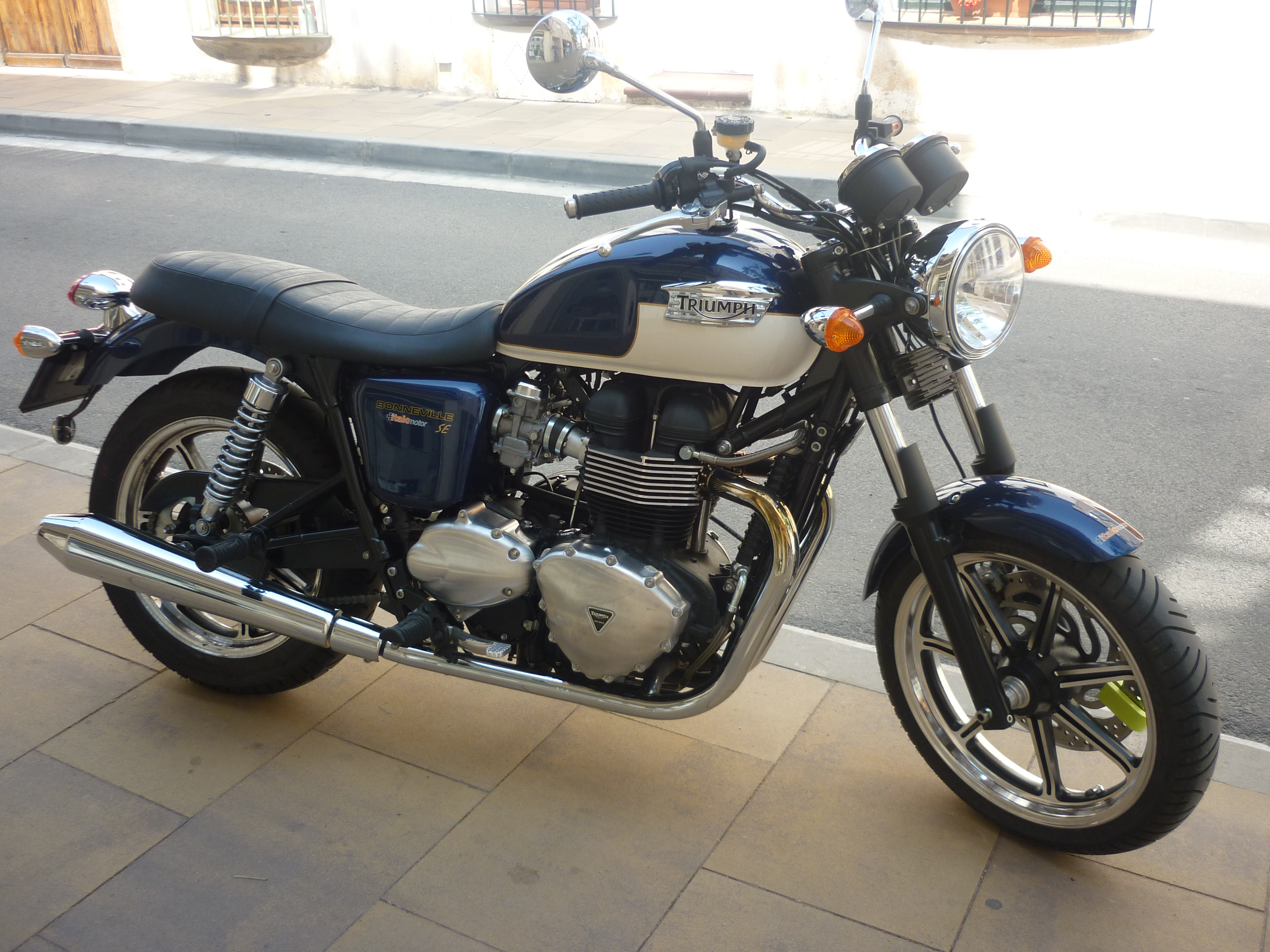 Triumph Bonneville on the street