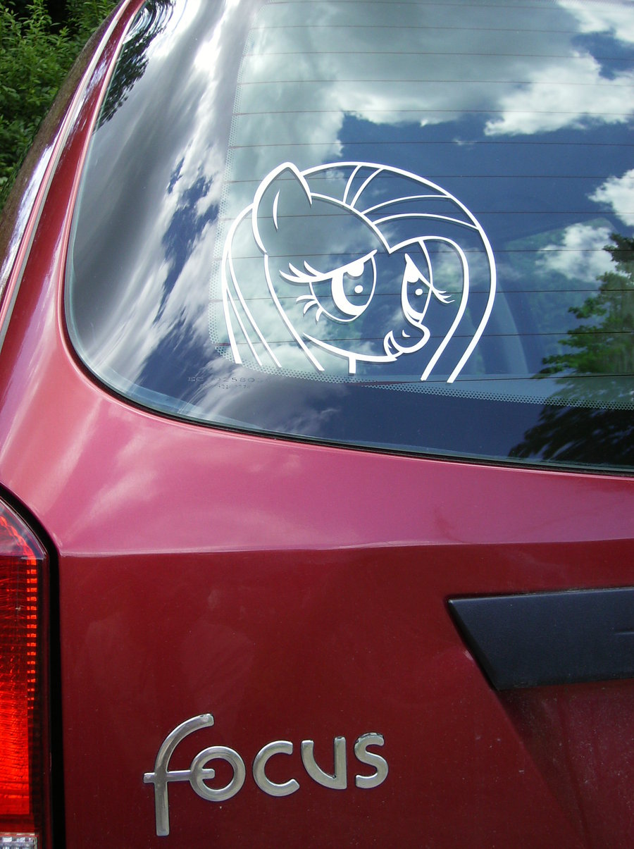 fluttershy on my car by madame fluttersh