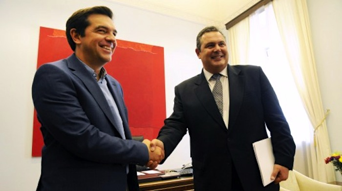 New Greek Government Tsipras Kammenos