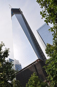 220px-One World Trade Center from bottom